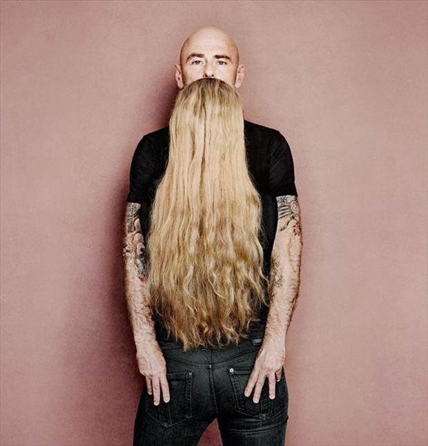 Abnormally Long girlish Beard romantic illusion