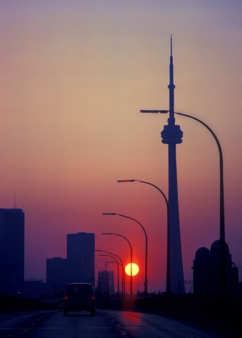 sunrise lamp post