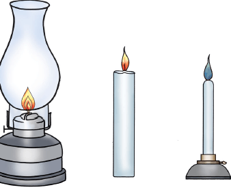 Candle wood stove and gas lamp puzzle