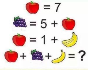 apple-grapes-banana-puzzle
